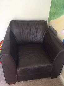 Harvey's diva brown leather chair