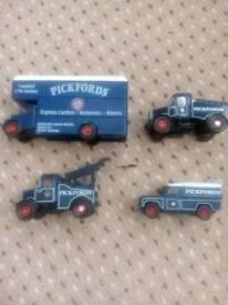 Four Pickford's corgi vehicles