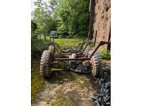 Timber trailer howitzer wheels