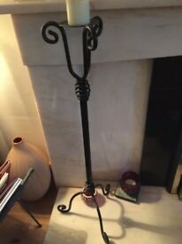 Black wrought iron candle holders. Very good condition. Selling due to decor change