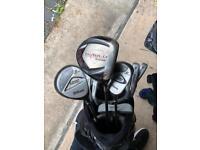Full set of Golf Clubs inc bag - Callaway Driver/Wilson Irons