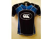 Canterbury boys armour top and head guard for rugby
