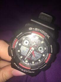 G-shock watch red & black