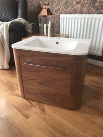 Victoria bathrooms wall mounted sink unit