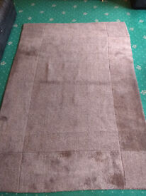 Large brown IKEA rug