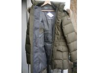 Mans Hacket Fur Collar Duck Lining Parka Style Coat, New Never Worn