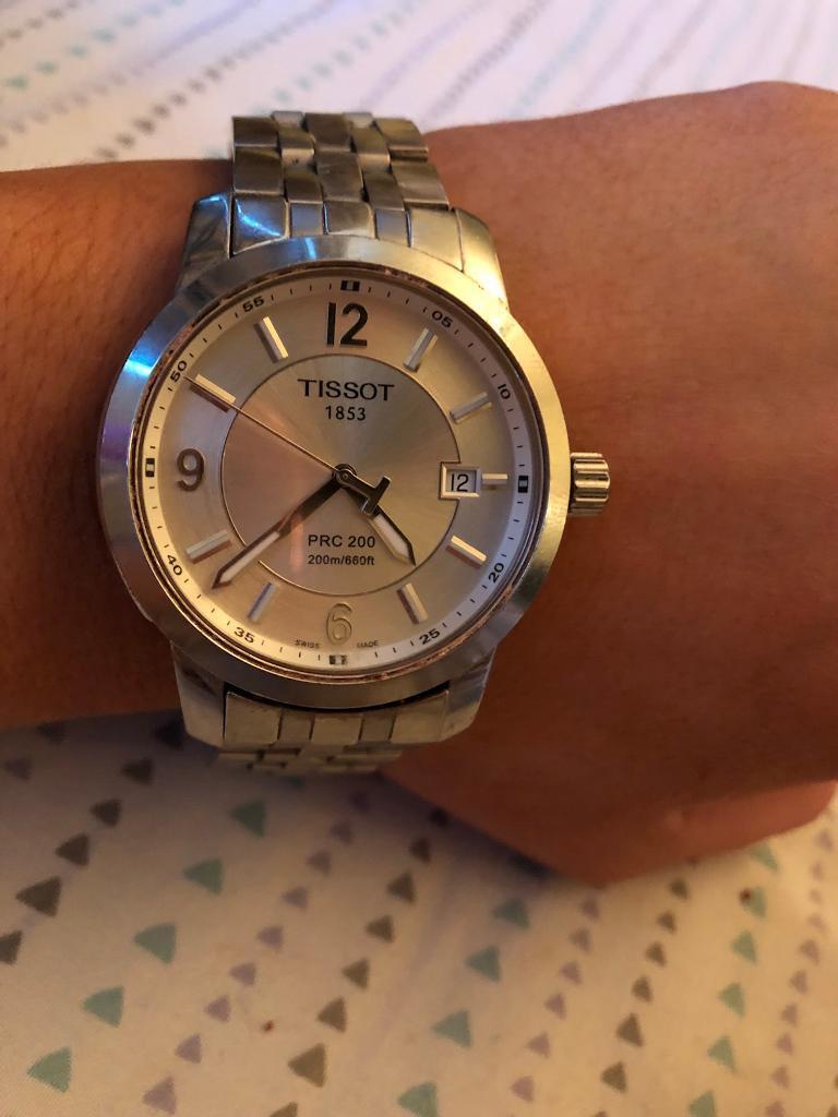 Men's Tissot PRC 200 sapphire crystal waterproof watch