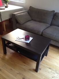 Coffee table - Ikea LACK - brown black