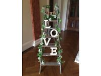 Rustic wooden ladder - perfect vintage decoration - See pic!