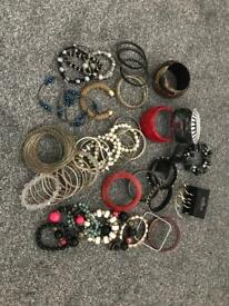 Collection of ladies bangles