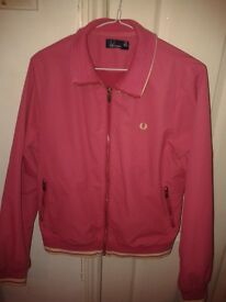 Fred Perry bomber jacket pink size 14/M