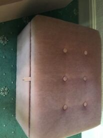 Pink fabrics footstool/storage box