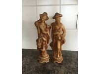 Chinese Resin Figures Male and Female