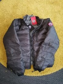 brand new with labels Canada Goose Mens Lodge jacket, charcole/black, Large.