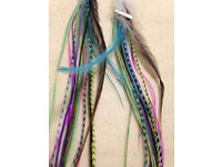 Hand Dyed Real Feather Earrings from American Southwest NEW/Boho
