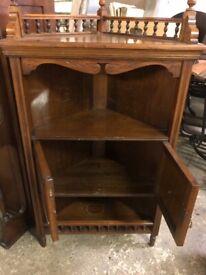 Edwardian Corner Cabinet - Spindle Decor Top