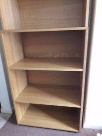 Galant open storage combination - (Ikea) Oak veneer - (Bookcase, shelving) - Great condition