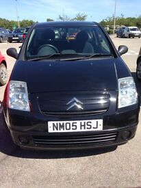 Black Citroen C2 Design - In really good condition with a low mileage for first vehicle