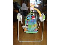 Fisher Price Battery Operated Musical Baby Swing