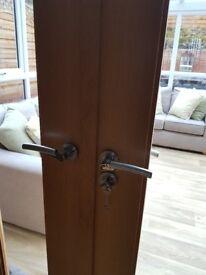 Set of Patio Doors in Light Oak