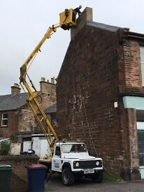 Gutters painted/replaced/repaired/cleaned/windows/chimneys repaired/painting/cherry picker hire