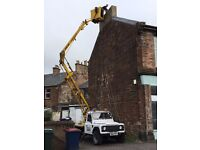 Gutters cleaned/ repaired/downpipes unblocked repaired/chimneys repaired/roofers cherry picker hire