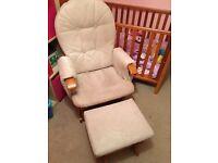 Nursing Chair - Recline glider Chair and Stool