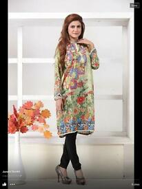 Pakistani Indian Kurti Kurta digital silk. Kurti