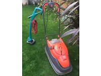 Flym Hover lawnmower and Bosch Strimmer