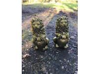 Pair Lion Garden Ornament