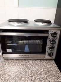 Morphy richards small electric hob oven grill