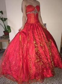 Orange prom/pageant dress