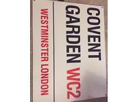Covent Garden Novelty Street Sign
