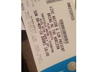 X2 standing tickets for bring me the horizon. Sunday 6th Nov Sheffield home show.