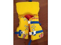Infant/ Child life jacket in yellow Less than 50lbs/ 23kgs