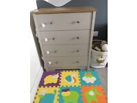 New 4 drawer chest ( grey and oak effect )