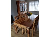 Solid wood kitchen dresser and table
