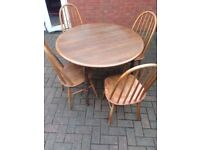 Dining table with 4 chairs delivery available