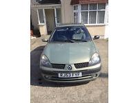 Renault Clio 2003 1.4, Petrol, Automatic, low mileage:34,881