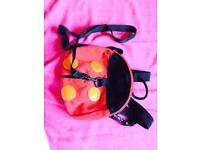 Lady bag safety harness back pack