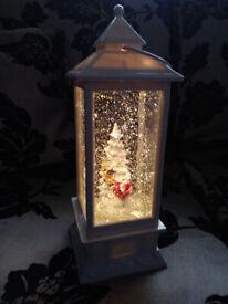 Christmas Snow Glitter Lantern Lamp Light