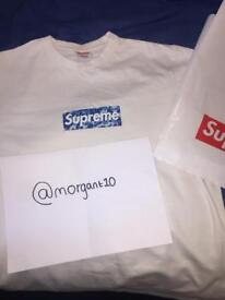 New bape x supreme bogo t shirt