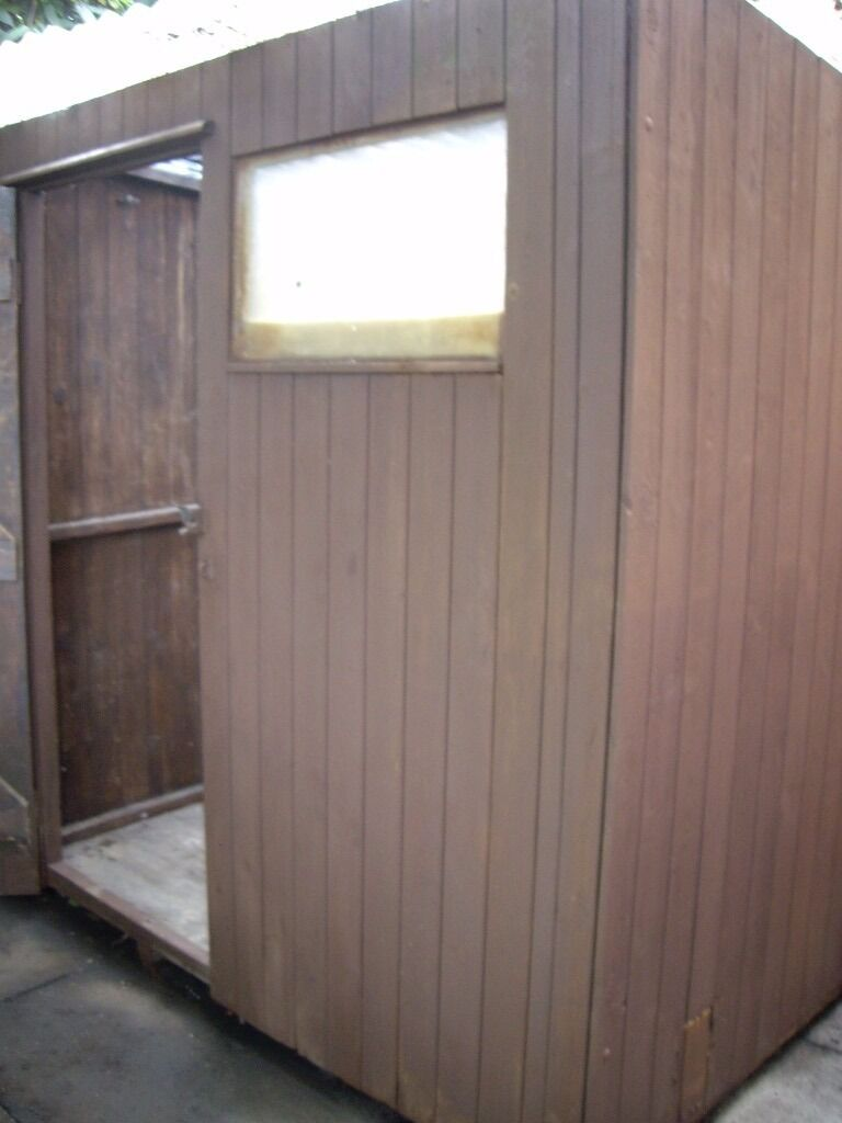 wooden garden shed pent roof 6x4