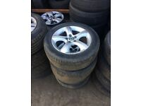 SKODA FABIA 15 INCH ALLOYS WITH 195/55/15 TYRES