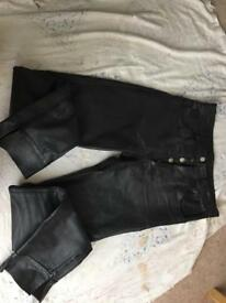 Men's bikers leather trousers