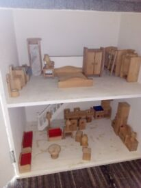 Lovely dolls house including furniture.