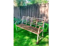 Antique cast iron bench
