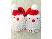 Christmas baby slippers -Size 5- immaculate conditions