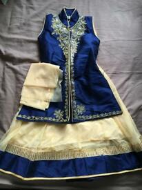 Girls lehenga with long Kurti and dupatta