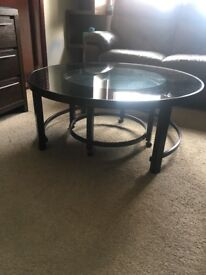 Black and glass coffee table for sale
